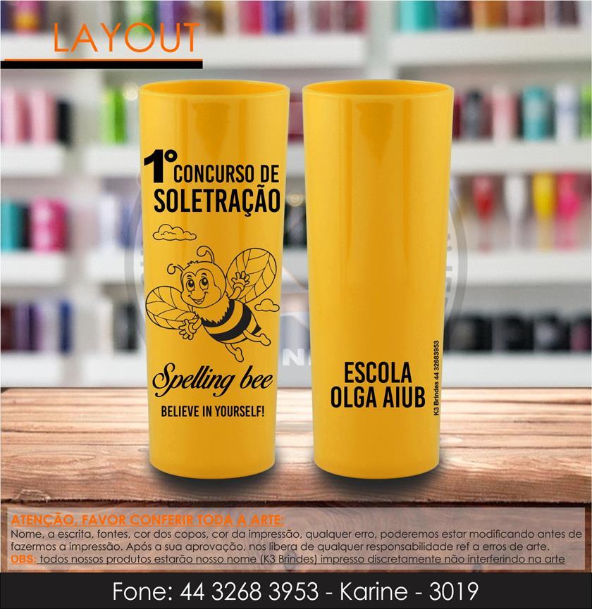 3019 - long drink amarelo - abelha - soletrando - spelling bee