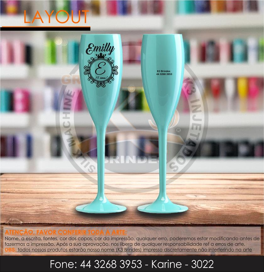 3022 - taça tiffany - complemento - emilly - 15 anos
