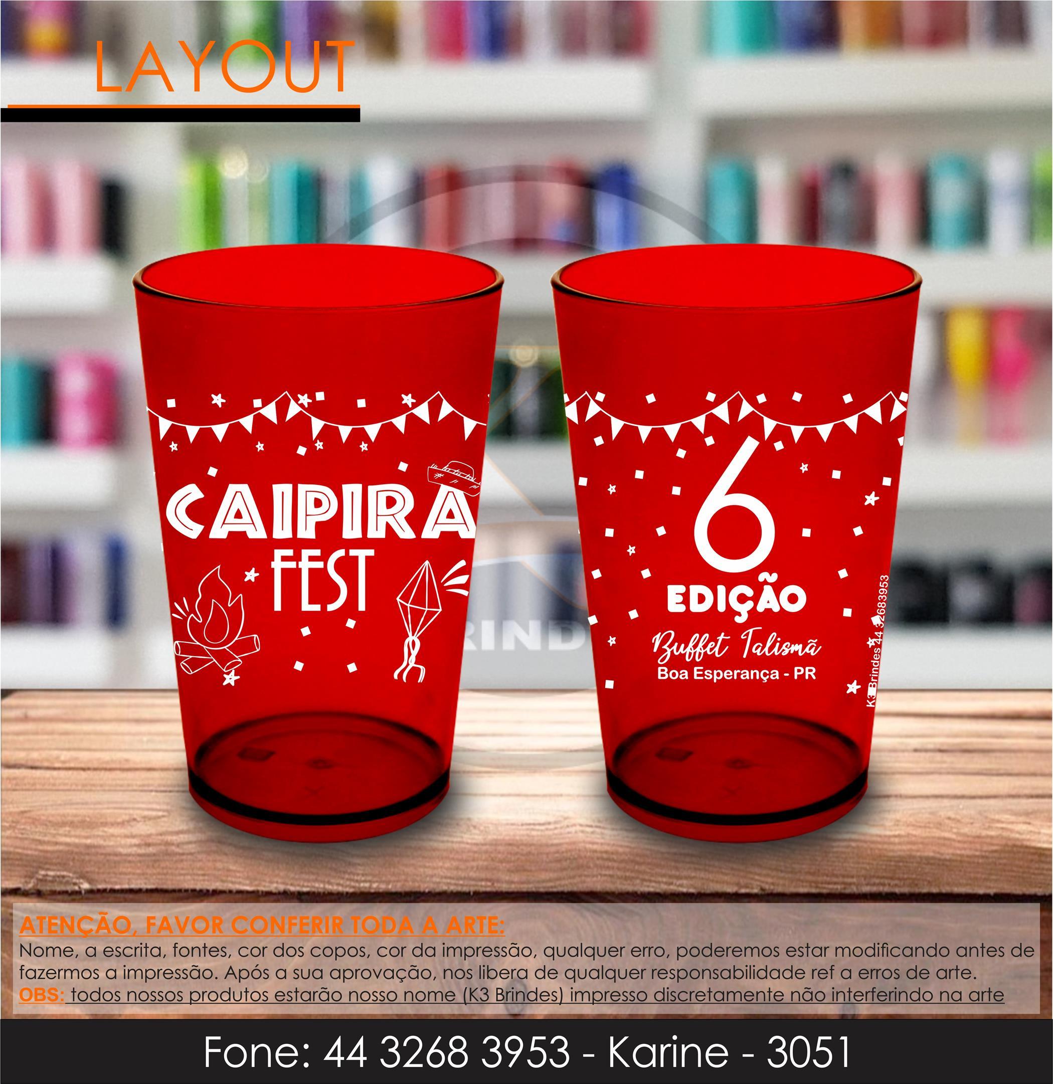 3051 - caldereta vermelho ruby - junina - caipira fest