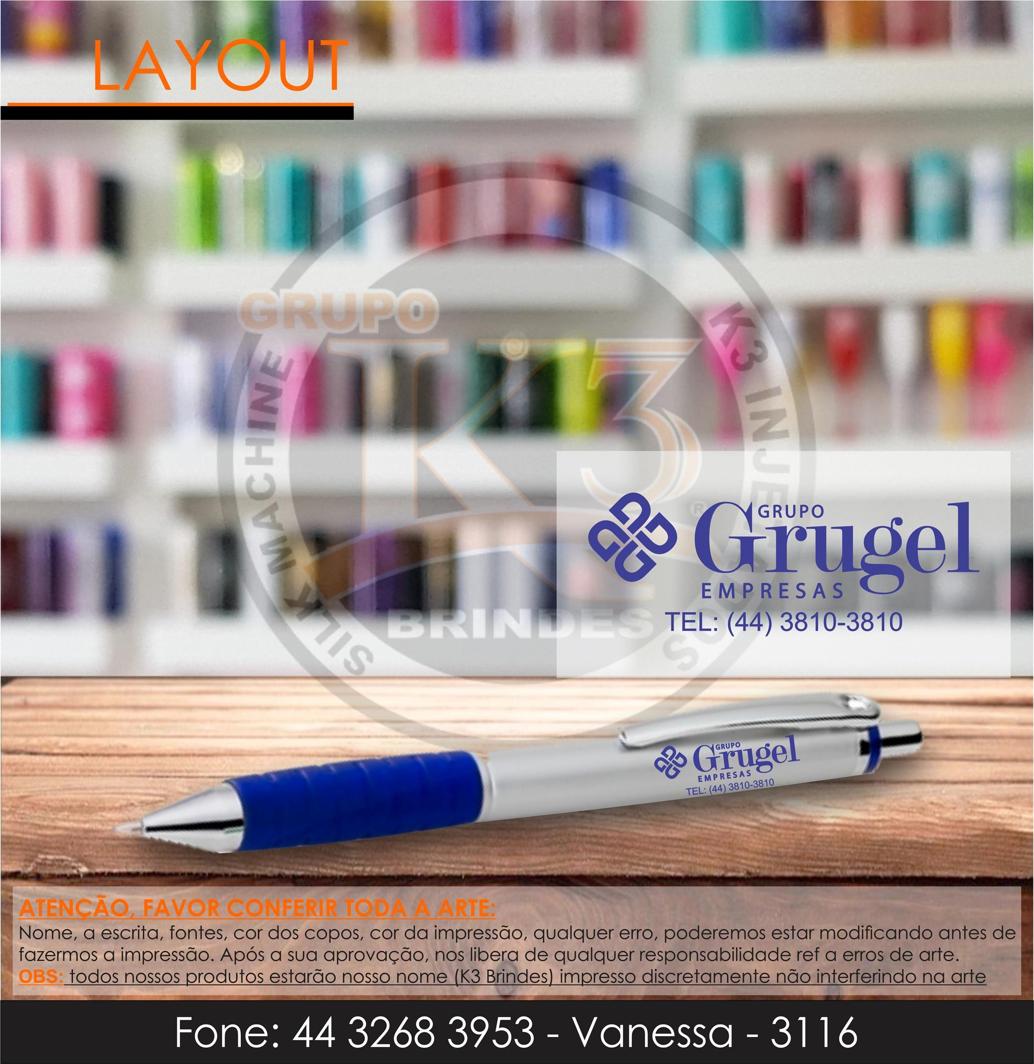 3116 - caneta azul - gh6188 - grugel