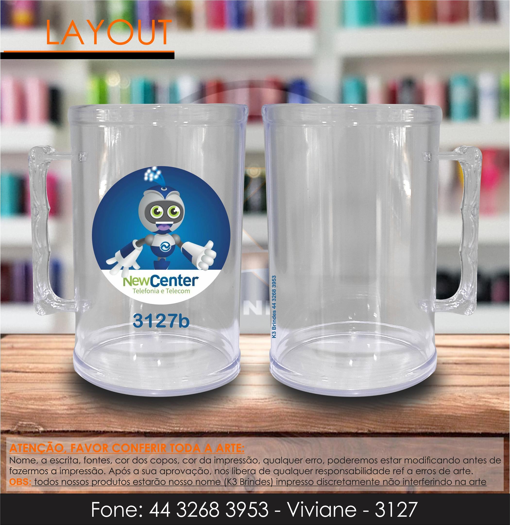 3127 - caneca cristal - newceter